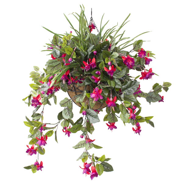 Arrangement suspendu ext rieur de coeurs saignants roses for Plante a suspendre exterieur