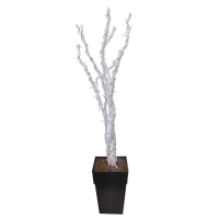 Arrangement de dragonwood blanc illuminé 6'
