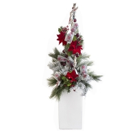 Red and white christmas arrangement, 6'