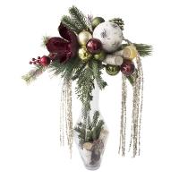 Glass vase christmas arrangement 27 x 20 x 15''