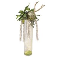 Glass vase christmas arrangement 59 x 23 x 20''