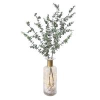 Arrangement d'eucalyptus dans un vase en verre 25''