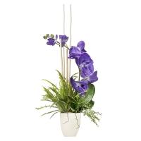 Arrangement d'orchidées artificielles mauves