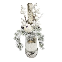 Snowed arrangement 29''(H) x 16''