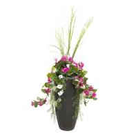Arrangement extérieur géranium rose