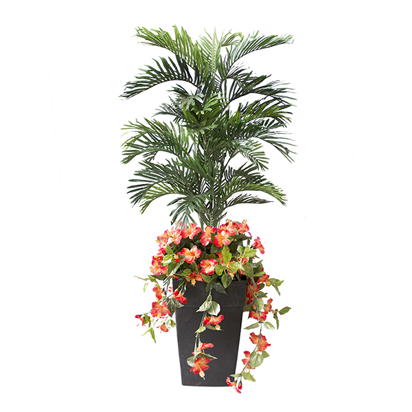 arrangement floral palmier fleurs orange 6 5 39 d cors