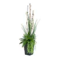Birch & Greenery Outdoor Arrangement