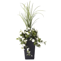 40'' Outdoor white hibiscus planter