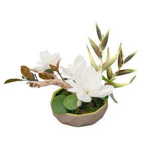 Arrangement de magnolias blancs