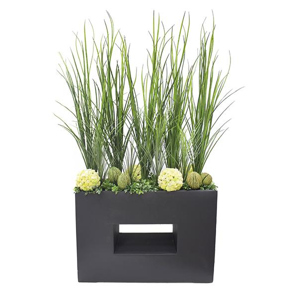 arrangement moderne bac noir d cors v ronneau. Black Bedroom Furniture Sets. Home Design Ideas