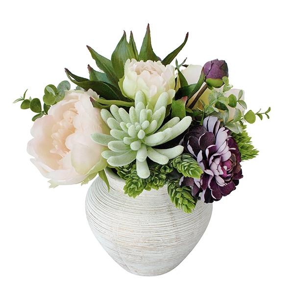petit bouquet en vase fleurs et plantes grasses d cors v ronneau. Black Bedroom Furniture Sets. Home Design Ideas