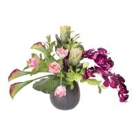 Arrangement printanier de fleurs artificielles