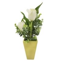 Bouquet de tulipes blanches