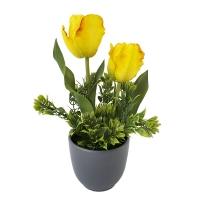 Bouquet de tulipes jaunes