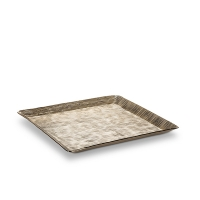Small Square Textured Platter