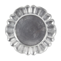 13'' Decorative silver charger with fluted edge