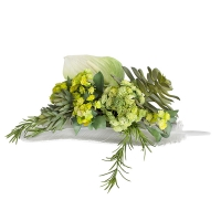 Feather & greenery arrangement