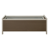 Synthetic Grey Wood Flower Box