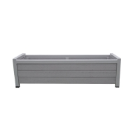 Grey Composite & Steel Flowerbox, 16 x 48 x 14''