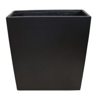 Black rectangular fiberglass container 31,5 x 12 x 36''