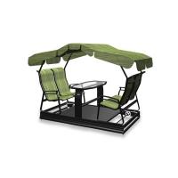 Swing on wheels kaza, 4 seats, green