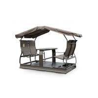 Balançoire St-Laurent sur roues 4 chaises, laiton antique