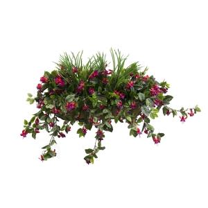 Balconnière de coeurs saignants roses 28''