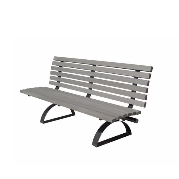 banc de parc 6 39 en acier et bois polym re synth tique d cors v ronneau. Black Bedroom Furniture Sets. Home Design Ideas