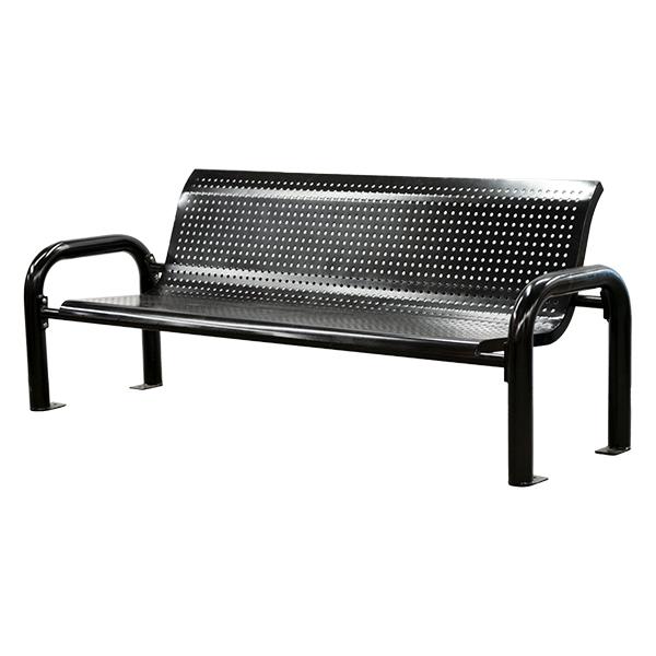 Outstanding Black Steel Park Bench Decors Veronneau Creativecarmelina Interior Chair Design Creativecarmelinacom