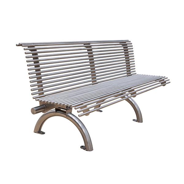 banc de parc en acier avec dossier 6 39 d cors v ronneau. Black Bedroom Furniture Sets. Home Design Ideas