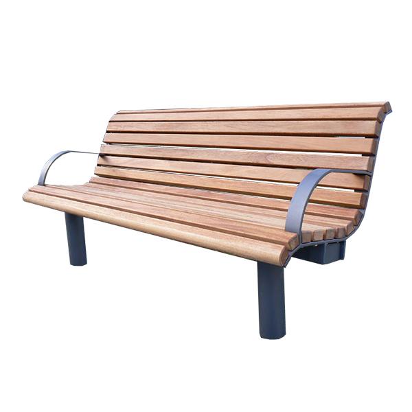 banc de parc en bois courb 6 39 d cors v ronneau. Black Bedroom Furniture Sets. Home Design Ideas