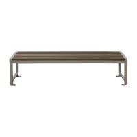 Banc de parc en bois polymère synthétique gris 6'