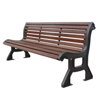 6' Brown park bench