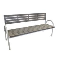 6' Grey park bench