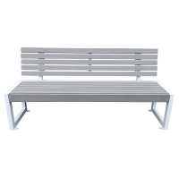 Grey synthetic polymer wood park bench 6'