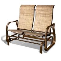 Oscillatory bench, folded seat