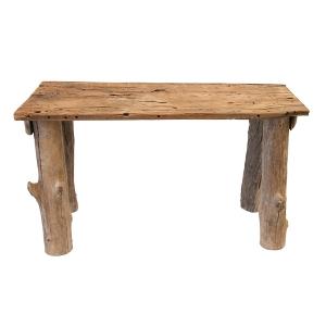 banc rustique en bois d cors v ronneau. Black Bedroom Furniture Sets. Home Design Ideas
