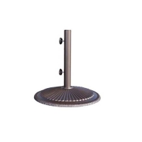 Umbrella base in cast iron, 50lbs, 20,5 x 19,5 x 19,5''