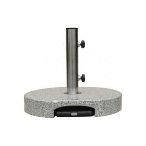 Anthracite//Noir 360/°C pivotant VONROC Parasol d/éport/é Rond 3 m/ètres de diam/ètre Voile Protection UV Indice 50+