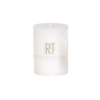 White candle pillar 3 x 4''