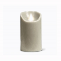 Lunar grey flameless candle made with real wax 3x5''