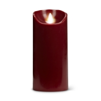 Dark red flameless candle 3x7''