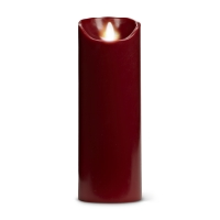 Dark red flameless candle 3x9''