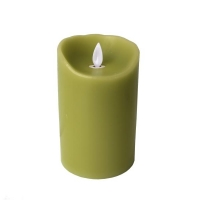Candle with realistic flame 3x5