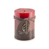Cranberry candle pillard 3 x 4''