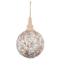 7,25'' Beige ball ornament