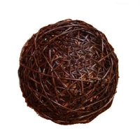 Boule de vigne décorative brune 2''