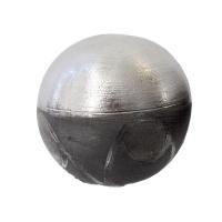 Silver decorative ceramic ball 3 x 3 x 3''