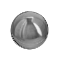 Chrome stainless steel decorative ball 12'', int./ext.