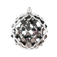 Boule diamant lustrée argent  4''